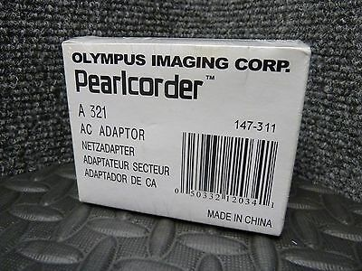 Brand New Genuine Olympus Pearlcorder AC Adapter model A321 147-311 Ships Free