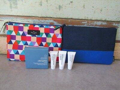 2 Qantas Business Class airline amenities travel cases Kate Spade Jack Spade