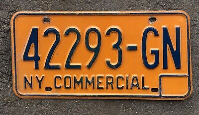 Authentic New York Commercial License Plate USA