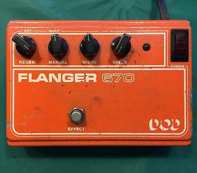 Vintage DOD Flanger 670 flange Phaser Guitar Or Synth Analog Effects Pedal