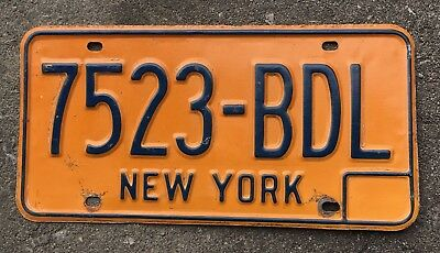 Authentic Vintage New York License Plate USA