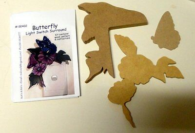 Wooden Shapes  - Butterfly Light Switch Or Door Frame Surround