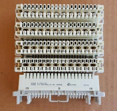 ADC krone block 10 pair x5