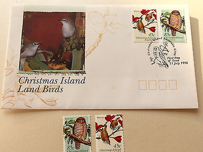 1996 Christmas Island - Land Birds  45c, 85c MNH + FDC