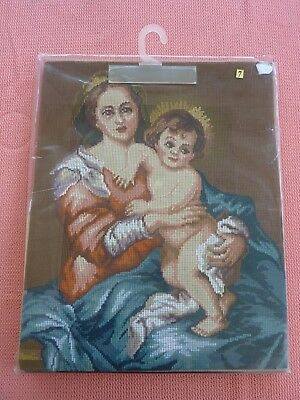 Stickbild Stickpackung Sticken Gobelin Handarbeit Rico Madonna Maria mit Kind