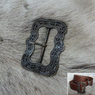 Medieval Renaissance & Pirate Style Brass Belt Buckle Ideal for Period Costume