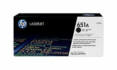 GENUINE HP 651A Black LaserJet Toner Cartridge (CE340A) (CE340A)