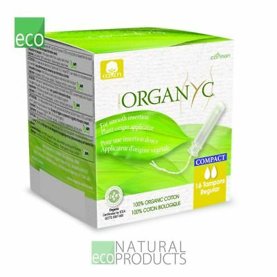 Organyc Compact Tampons with Applicator Organic Cotton Regular 16 per pack