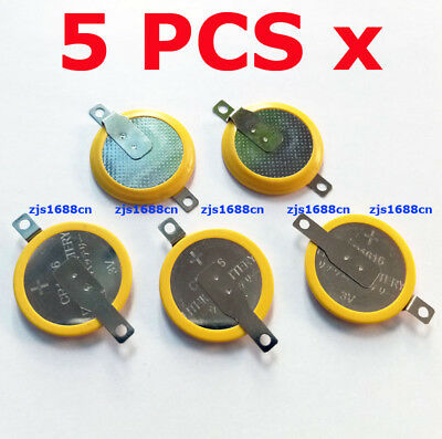 5 PCS x New Tabbed 3V CR1616 Battery For Game Boy Pokemon With 2Pins/Tabs