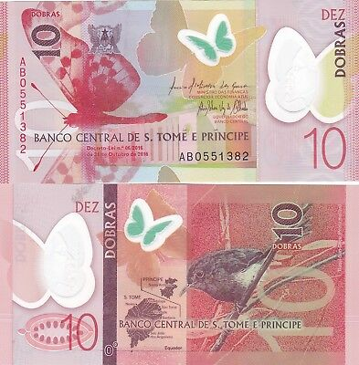 St Thomas & Prince.2016/18.10 Dobras,,polymer,p-New Uncirculated (S)