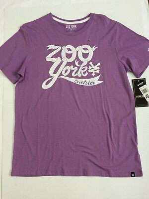 "Zoo York T Shirt ""SCRIPTED"" in Flieder Größe XL  Skateboard Skater"