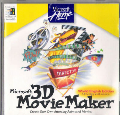 Microsoft Home - Microsoft 3D Movie Maker - Vintage Software