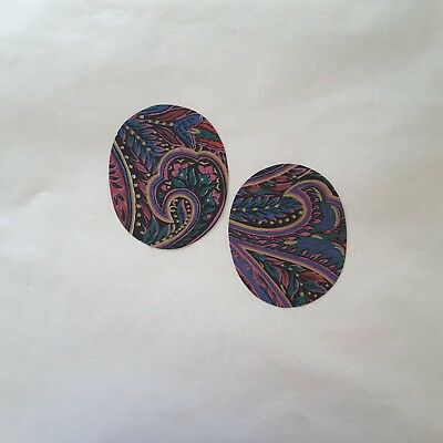 2Pcs Multicolored Oval Elbow Patches Sew Iron-on Patch Purple Knee Patch Custom