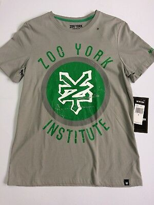"Zoo York T Shirt ""STICK"" in Grau Größe S Skateboard Skater"