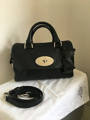 c9e293f7d9 Mulberry Small Del Rey In Black Lovely Sought After Bag For Across  Body Shoulder