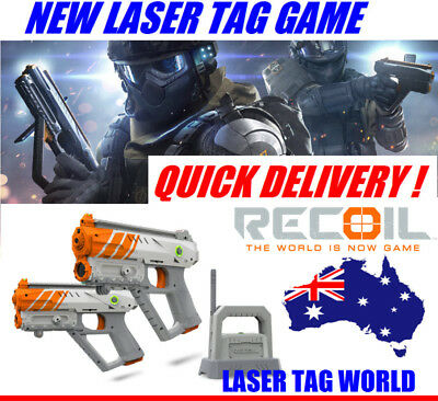 NEW LASER TAG TOY GUNS Gun Recoil Multi-Player Pistols Starter Set Smartphone.