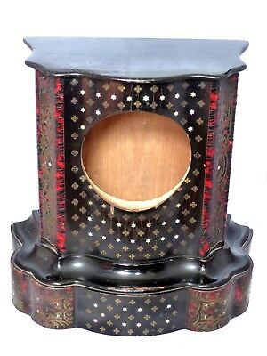 RARE Antique 19th Century French Boulle Inlaid 'faux'Tortoiseshell Bracket Clock