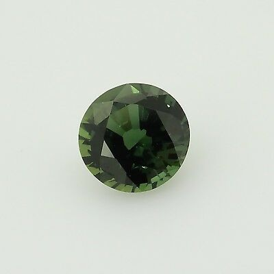 round bluish green sapphire unheated madagascar  0.82ct Genuine Loose Gemstones