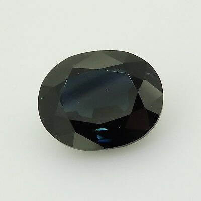 oval deep greenish blue sapphire Australia 3.24ct Genuine Loose Gemstones