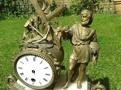 clock ormolu gilt mantel spelter time wood stand 1880s parts