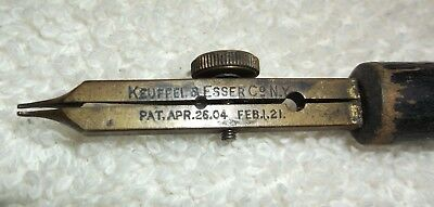 """Antique Keuffel & Esser Co. NY Drafting Tool : G.A. Hack Pat. `04 ; `21 """"5"""" WOW!"""