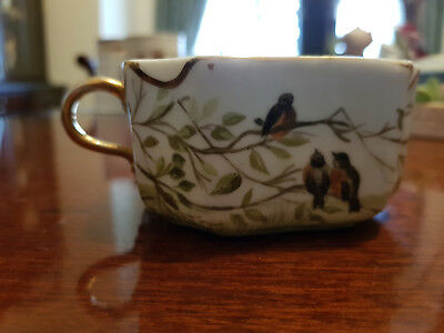 Vintage Limoges H & Co Hand Painted Unusual Square Cup