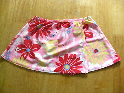 L. L. BEAN SWIM SKIRT COVER UP! Pink Floral Design! GIRL'S Sz 14! NWT!