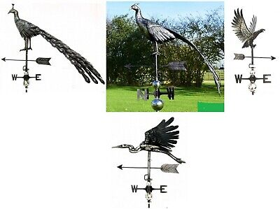 New : PRIMUS Range : Stainless Steel 3D Weather Vane : Peacock : Heron : Eagle