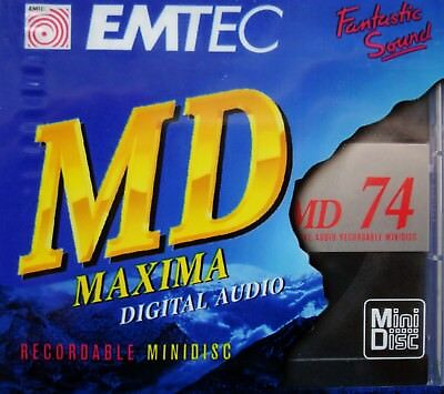 25 x MD 74 + 1 x MD 80 EMTEC Maxima Digital Audio MiniDisc