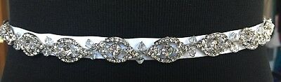 Women's Bridal Belt/Sash - Rhinestone Ribbon