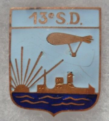Insigne Marine WWII 13° SD SECTION ballons DIRIGEABLES ou DRAGUEURS ORIGINAL