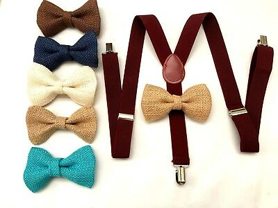 Suspender and Bow Tie Set for Adults Men Women Teens (USA Seller) 1