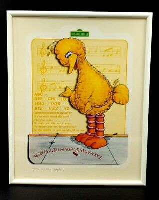 SESAME STREET FRAMED WALL ART LOT Big Bird Cookie Monster Burt Ernie ...