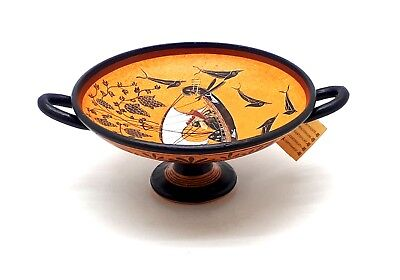 God Dionysus Cup Ancient Greek Vase Pottery Kylix Copy Museum Greece