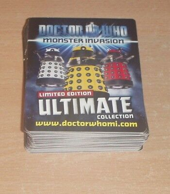 50 Doctor Who Monster Invasion Ultimate Limited Edition Trading Cards