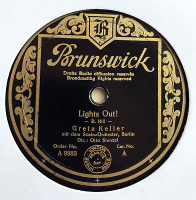 Greta Keller / Otto Stenzel Orch. - LIGHTS OUT! / These Foolish Things 1936