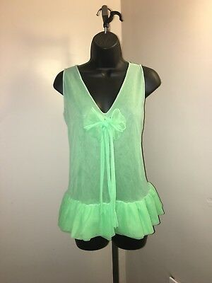 Womens Vintage Mint Green Top, 3 Layers-Lingere