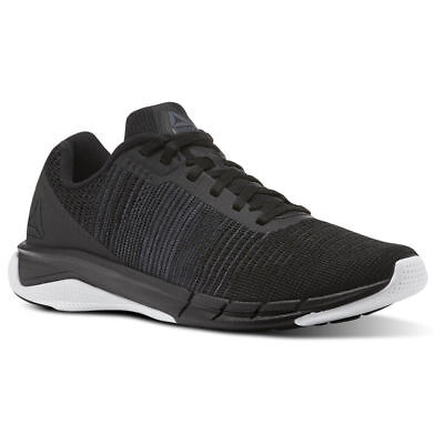 93455f0bf567 Reebok Fast Flexweave Mens Black White Runner Running Shoes CN1600 All Sizes