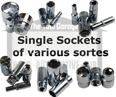 """SINGLE Sockets Metric and Imperial 3/8"""" & 1/2"""" Shallow, Deep 6 & 12 point Socket"""