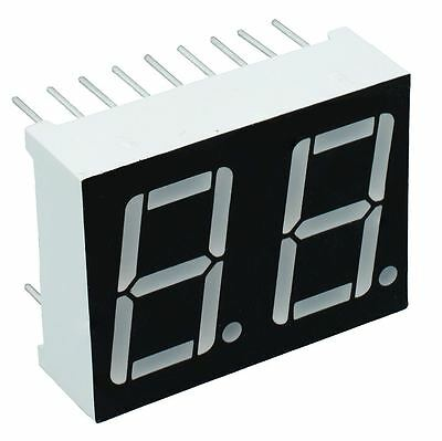 """Red 0.56"""" 2 Digit Seven 7 Segment Display Common Anode LED"""