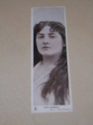 EARLY 1900s BOOKMARK POSTCARD - EDWARDIAN ACTRESS - OLIVE MORRELL - VGC