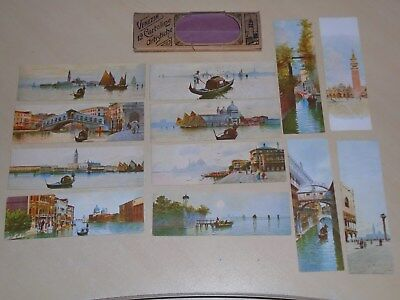 LOVELY SET OF 12 EARLY BOOKMARK SIZE PCs - VIEWS OF VENICE, ITALY- IN PACKET VGC