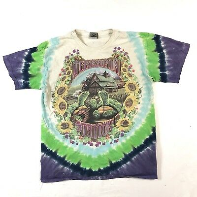 1999 Grateful Dead Terrapin Station Tie Dye Liquid Blue Tshirt