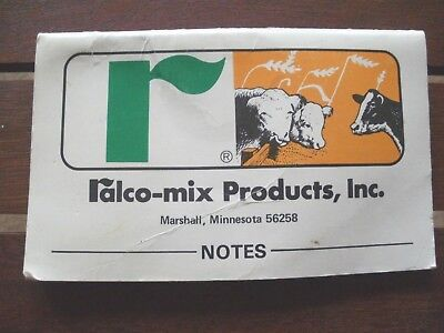 Ralco-Mix Products, Inc. Pocket Note Book,  F & F Dist, Chatfield, MN