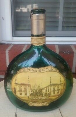 Vintage Mateus Bottle, Decorative Antique Wine Bottle