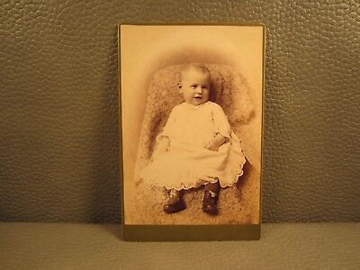 Victorian Antique Cabinet Card Photo of a Baby Girl