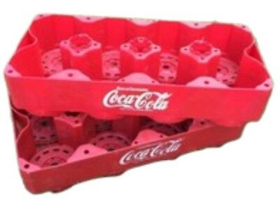 Coca-cola Vintage Coke Plastic Crates (2) For 2 Liter Bottles