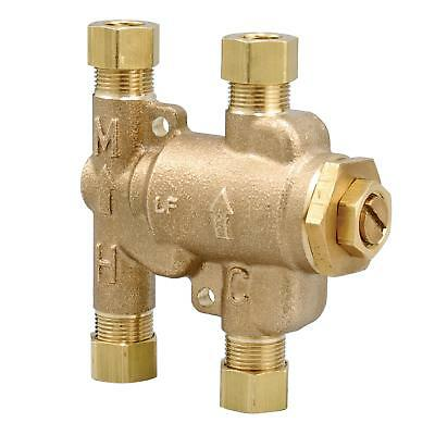 """NEW Watts 3/8"""" Compression Fitting Thermostatic Mixing Valves 3/8in LFUSG-B M2"""