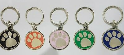 Deluxe Paw Pet Tag With Customized Engraving And Split Ring