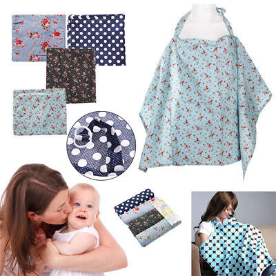 LK_ NE_ Baby Mum Breastfeeding Cover Cotton Nursing Udder Apron Blanket Shawl